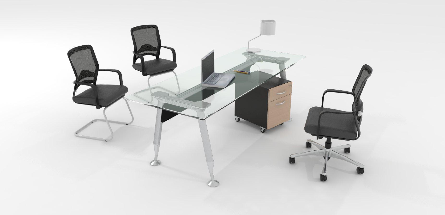 Escritorios mobiliario ejecutivo green delta aspen y - Cubiertas de cristal ...