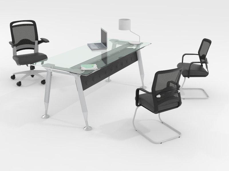 Escritorios mobiliario ejecutivo green delta aspen y - Cubierta de cristal ...