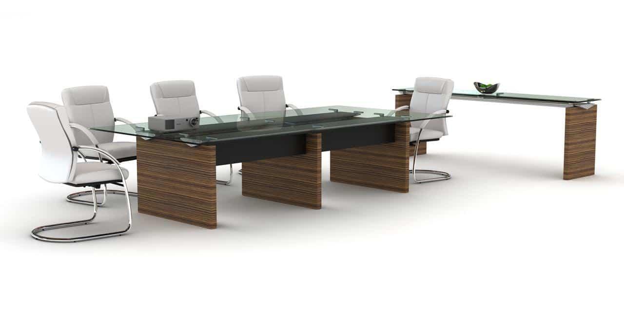 Salas de juntas mobiliario para oficinas mobiliario ejecutivo - Cubierta de cristal ...